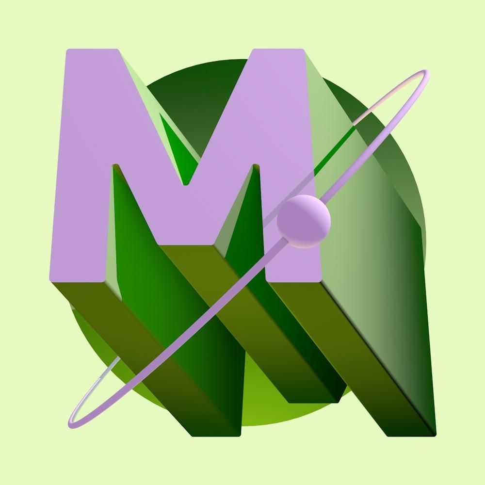 Letter M Text Art