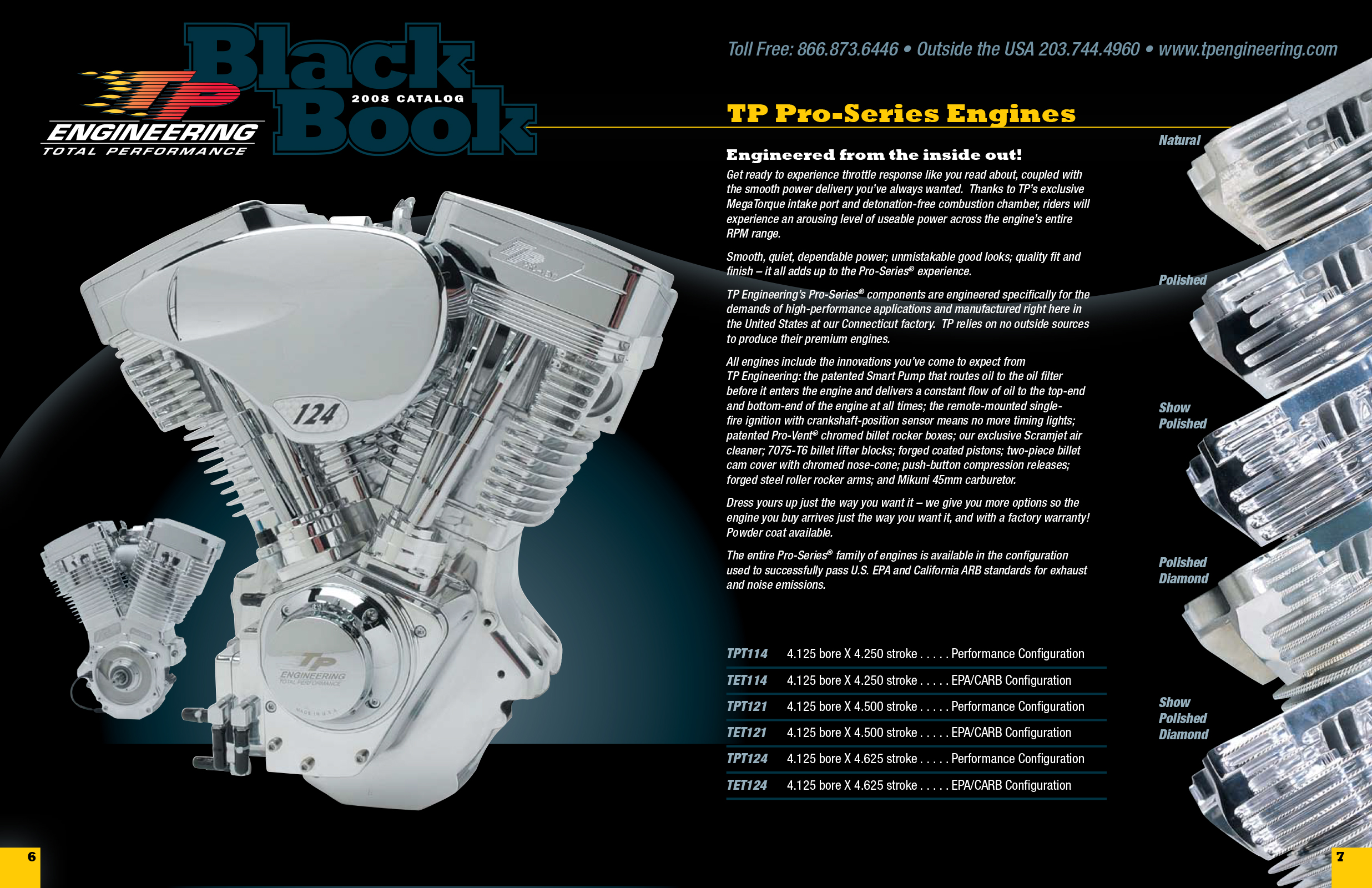 TP Engineering Engine Block Page