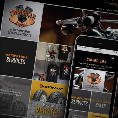 Twin Hills Iron Website Design with CMS
