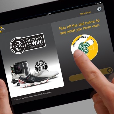 Boa Technology iPad Scratch and Win Game