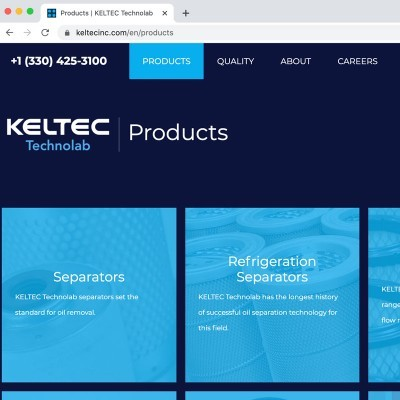 Keltec Website and e-commerce
