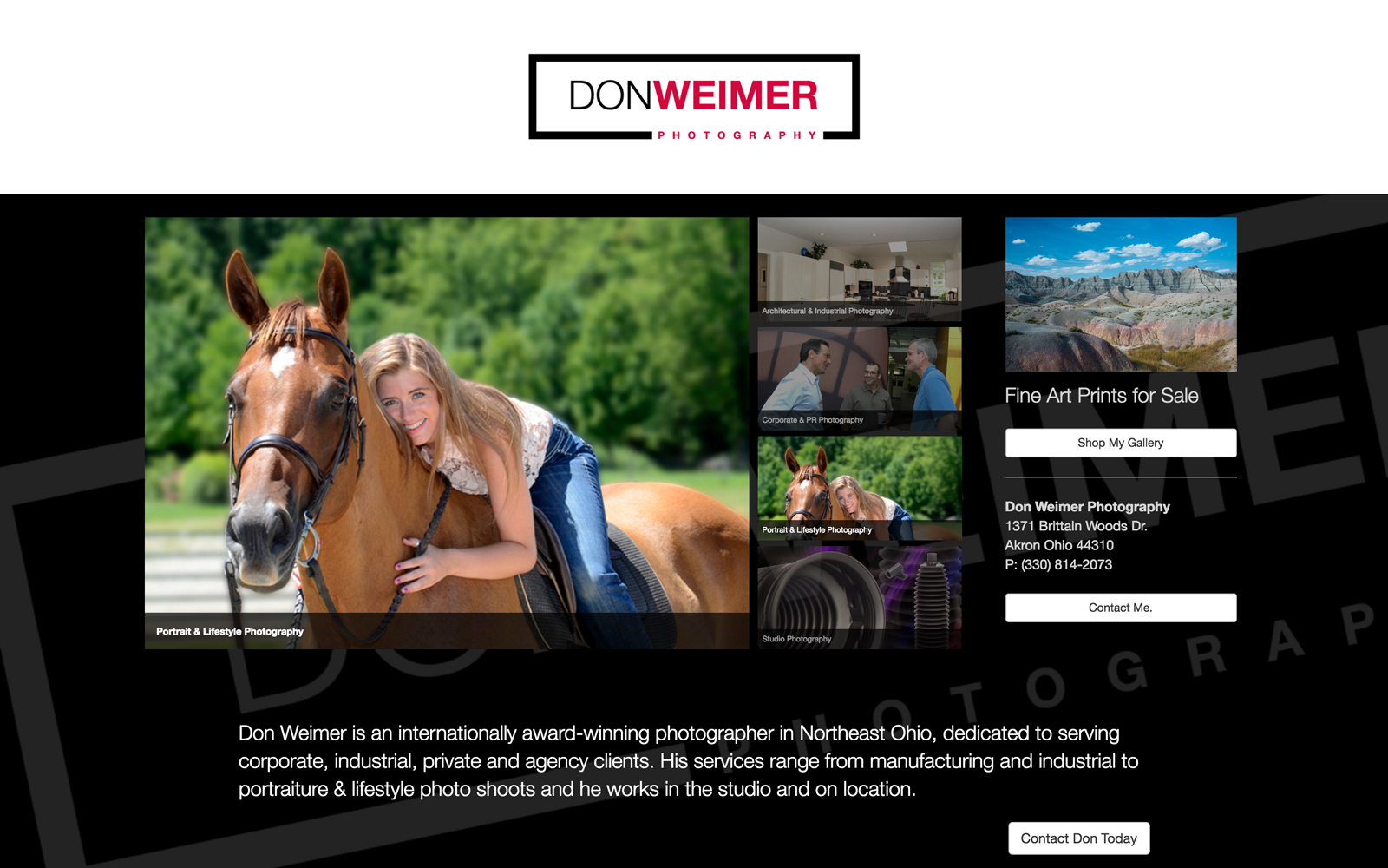 Homepage for Don Weimer