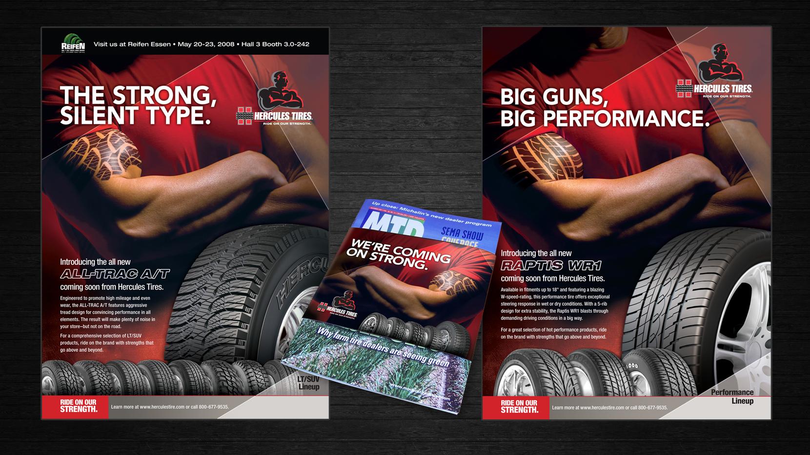 Hercules tires ads