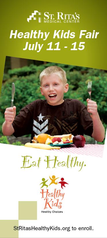 Eat Healthy Pole Banner