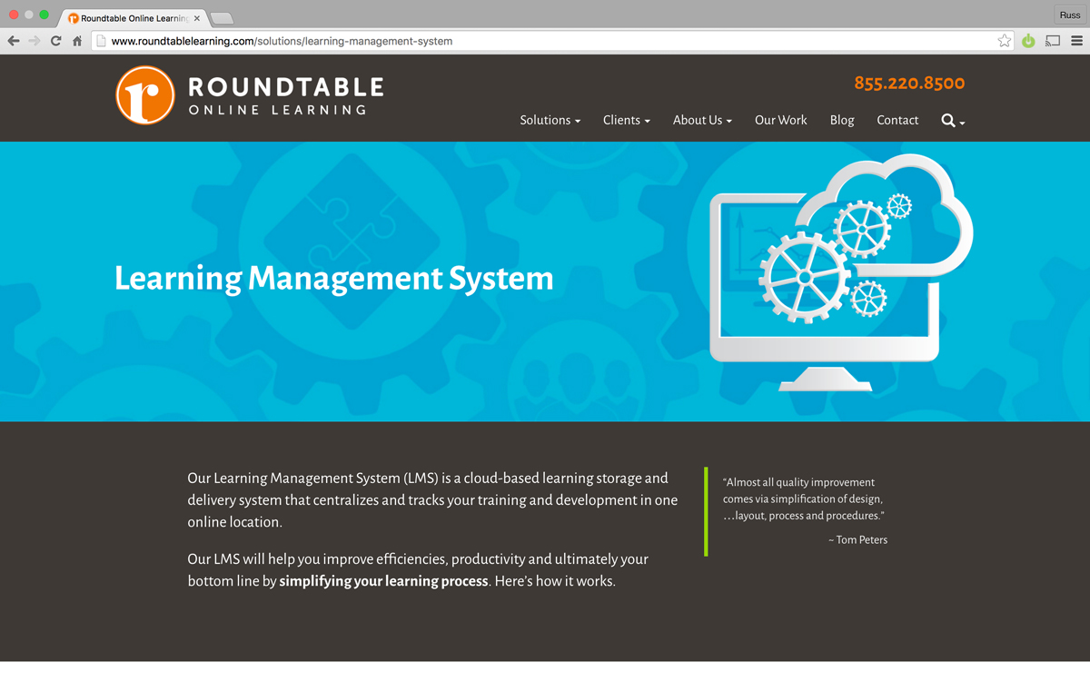 Learning Management Systems page