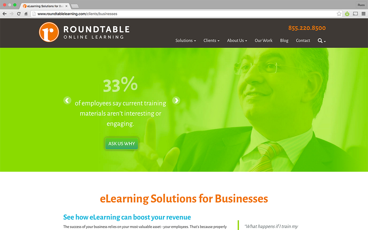 Roundtable Target Business Segment Page